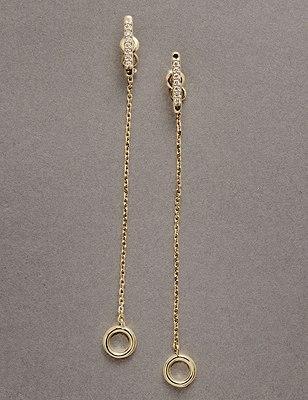 Fine Chain Drop Earrings, , catlanding
