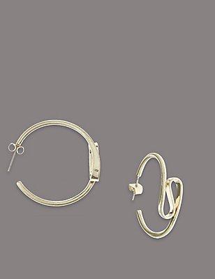 Swirl Hoop Earrings, , catlanding
