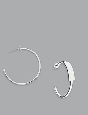 Fine Hoop Earrings, , catlanding