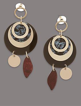 Multi Disc Drop Earrings, , catlanding