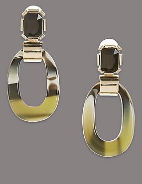 Oval Drop Earrings, , catlanding