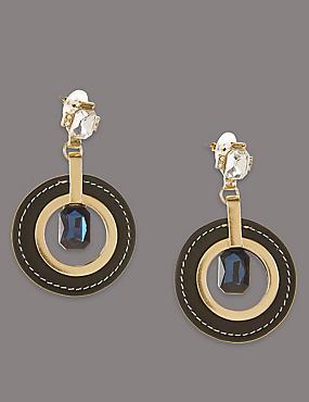 Circle Glamour Drop Earrings, , catlanding
