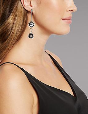 Mismatch Pearl Earrings, , catlanding