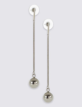 Long Ball Drop Earrings, , catlanding