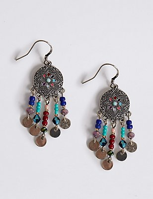 Dream Catcher Drop Earrings, , catlanding
