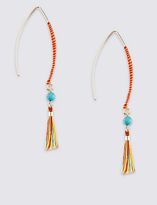 Tassel Stick Drop Earrings, , catlanding