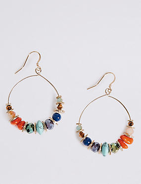 Earth Hoop Earrings, , catlanding
