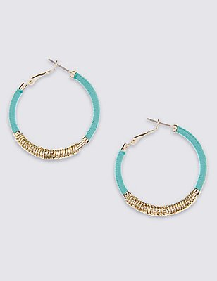 Metal Wrap Hoop Earrings, , catlanding