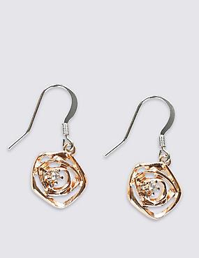Rose Cutwork Drop Earrings, , catlanding