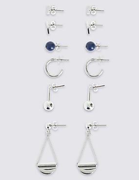 Shape & Sticks Earrings Set, , catlanding
