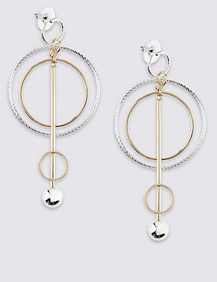Stick Hoop Drop Earrings, , catlanding