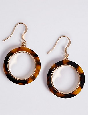 Resin Hoop Earrings, , catlanding