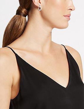 Silver Plated Loose Links Stud Earrings, , catlanding