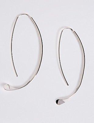 Sleek Through Hoop Earrings, , catlanding