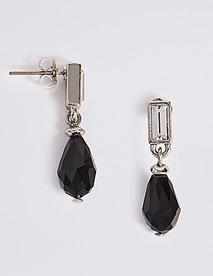 Multi-Faceted Tear Drop Earrings, , catlanding