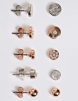 Assorted Stud Earrings Set, , catlanding