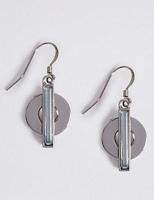 Circle Line Drop Earrings, , catlanding