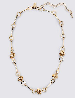 Gold Plated Multi Tex Knot Necklace, , catlanding