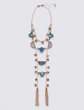 Halskette mit Mond- und Quastendetail, , catlanding