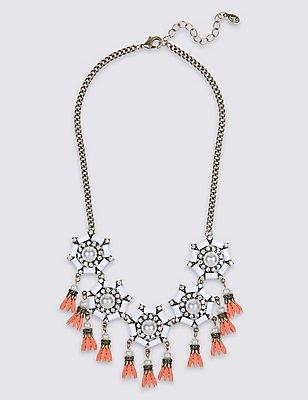 Pearl Effect Necklace, , catlanding