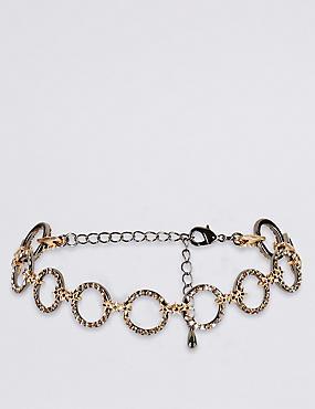 Star Circle Choker Necklace, , catlanding