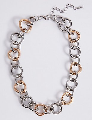 Tri Circle Link Necklace, , catlanding
