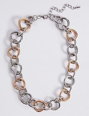 Tri Circle Link Necklace, , catlanding