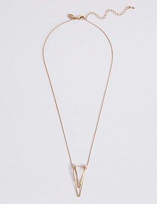 V Layered Pendant Necklace, , catlanding