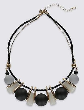 Collier à perles sphériques en résine, , catlanding