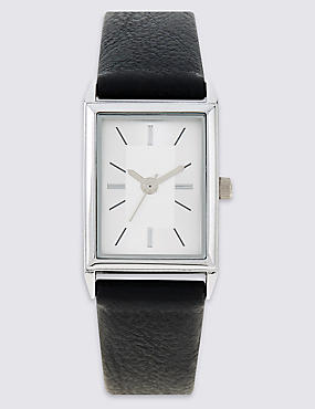 Square Sophisticated Strap Watch, , catlanding