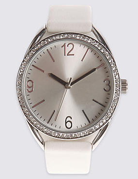 Round Face Shimmer Watch, , catlanding