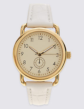 Round Face Curved Shoulder Watch, , catlanding