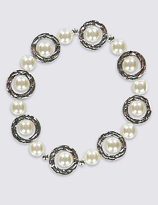 Pearl Circle Bracelet, , catlanding