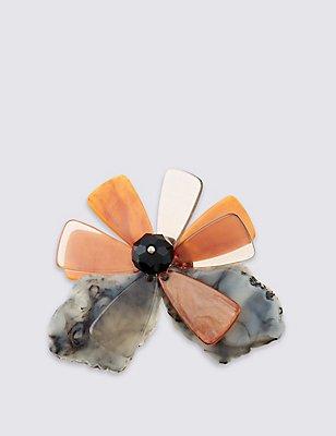 Fantastic Floral Brooch, , catlanding