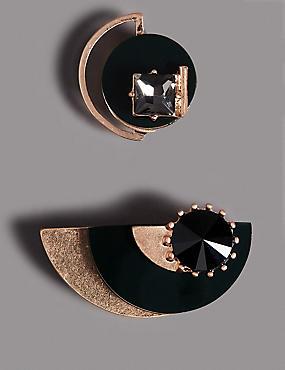 2 Pack Diamanté Brooches, , catlanding