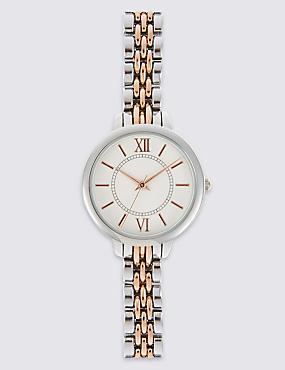 Round Face Bracelet Watch, , catlanding