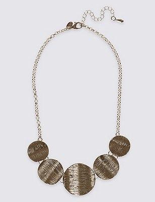Etched Metal Collar Necklace, , catlanding