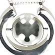 U Ring Ball Necklace, SILVER MIX, swatch