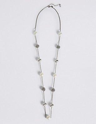 Collier en fausses perles et breloques façon coquille d'escargot, , catlanding