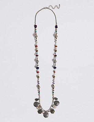 Charm Long Necklace, , catlanding