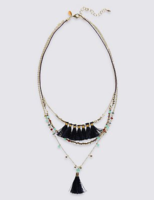 Layer Tassel Necklace, , catlanding