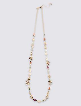 Charm Sparkle Rope Necklace, , catlanding