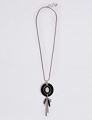 Round Stick Drop Necklace, , catlanding