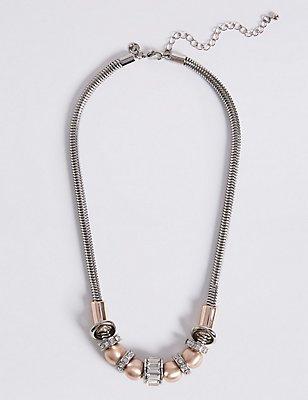 Baguette Rondelle Necklace, , catlanding