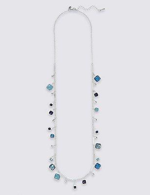 Square Long Droplets Necklace, , catlanding