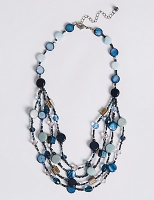 Shell Layered Necklace, , catlanding