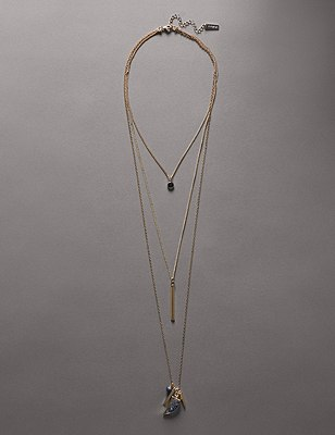 Tusk Cluster Multi-Layered Necklace, , catlanding