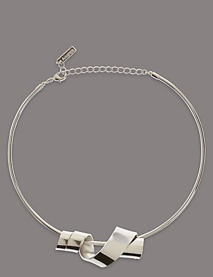 Swirl Torque Necklace, , catlanding