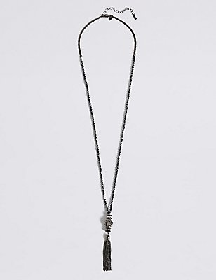 Orient Sparkle Tassel Necklace, , catlanding