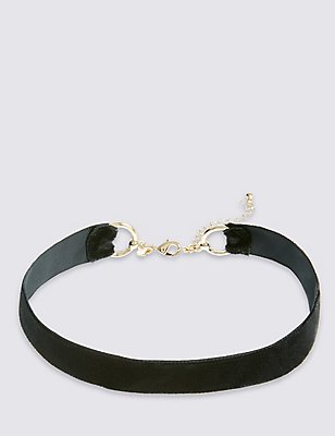 Velvet Choker Necklace, , catlanding